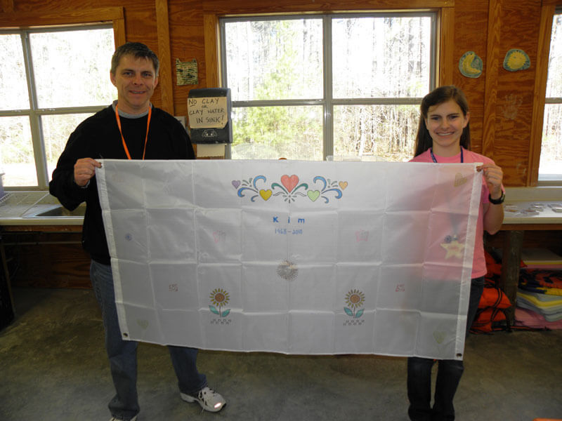 making a flag at Camp STARS