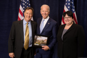 Board Chair David Martin, RN, and Visiting Nurse | Hospice Atlanta CEO Norene Mostkoff with Vice President Joe Biden